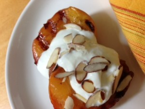 Grilled Peaches with Honey Orange Yogurt